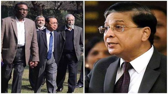 CPM leader sitaram yechury is with talks to oppositions to bring impeachment motion against CJI Dipak Misra in budget session. Congress chief Rahul Gandhi hesitate.