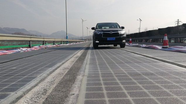 China opens a kilometer long world first Solar Power Highway