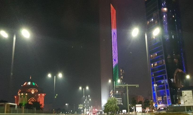 PM Modi UAE tour - Burj Khalifa