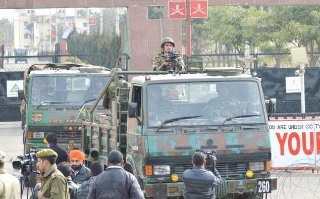 CRPF Camp in Jammu Kashmir