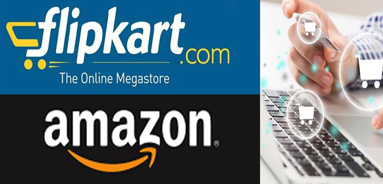 Online retail space - Amazon, Flipkart