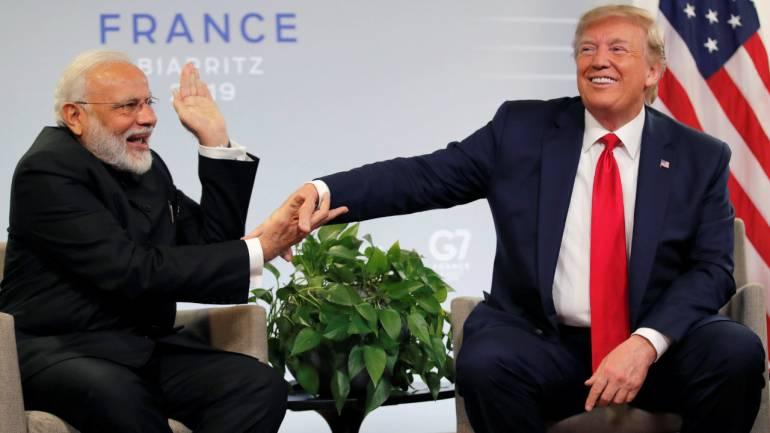 फ्रांस में प्रधानमंत्री नरेन्द्र मोदी और अमेरिकी राष्ट्रपति डोनाल्ड ट्रम्प। (फाइल चित्र)